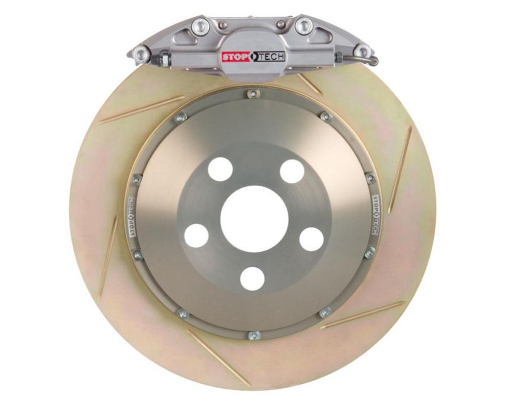 StopTech Trophy Sport Big Brake Kit Silver Caliper Slotted 2 PieceRotor Rear Mitsubishi Rear 2.0L 4-Cyl - 83.622.0023.R3