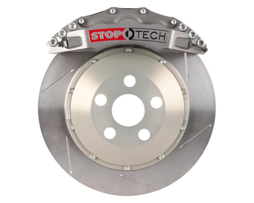 StopTech Trophy Sport Big Brake Kit Silver Caliper Slotted 2-Piece Rotor Front Mitsubishi Front 2.0L 4-Cyl - 83.622.6700.R1