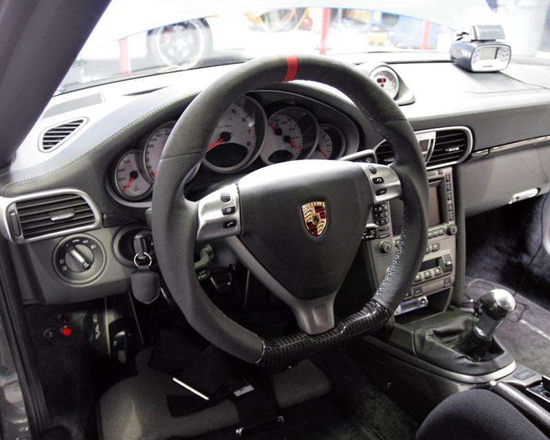 DCT Motorsports Carbon and Alcantara Trim Sport Steering Wheel Porsche 997 TT 05-09 - DCT-997-SPORT-WHEEL