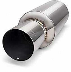 Image of DC Sports 4 Diameter Muffler Silencer Universal