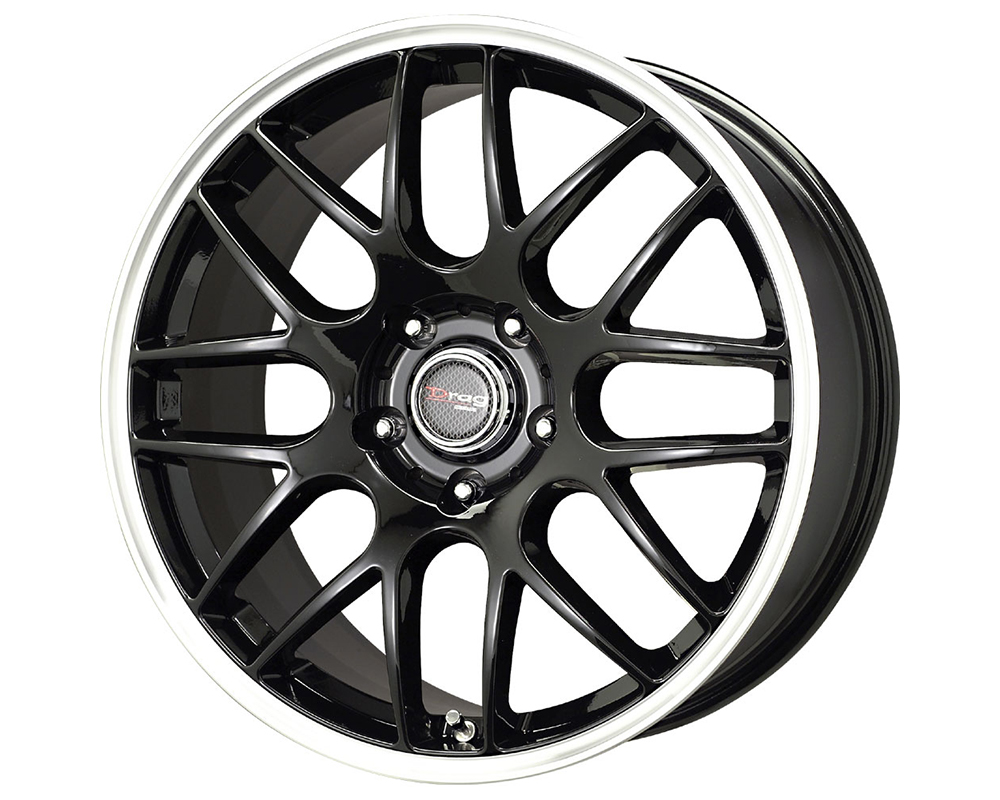 Drag DR-37 17X7.5  5x120  42mm Gloss Black Machined Lip - DT-61436