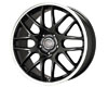 Image of Drag DR-37 15X7 4x100 25mm Gloss Black Machined Lip