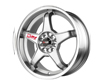 Image of Drag DR-8 17X7 4x100114 40mm Silver Machined