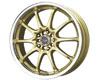 Image of Drag DR-9 15X6.5 4x100114 38mm Gold Machined Lip
