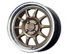 Image of Drag DR-16 15X7 4x100 40mm Bronze Machined Lip