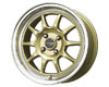 Image of Drag DR-16 15X7 4x100 40mm Gold Machined Lip