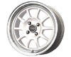 Image of Drag DR-16 15X7 4x100 40mm White Machined Lip