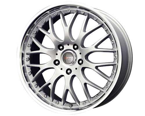 Drag DR-19 17X7.5  5x100/5x114.3  45mm Silver Machined Lip - DT-45374