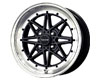 Image of Drag DR-20 15X7 4x100 10mm Gloss Black Machined Lip