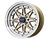 Image of Drag DR-20 15X7 4x100 10mm Gold Machined Face