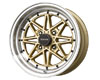 Image of Drag DR-20 15X7 4x100 10mm Gold Machined Lip
