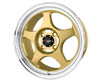 Image of Drag DR-23 15X6.5 4x100 40mm Gold Machined Lip