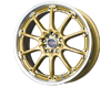 Image of DRAG DR 47 Wheels 17X7 5x1005x114.3 40mm Gold Machined Lip