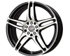 Image of DRAG DR 50 Wheels 15X6.5 4x1004x114.3 40mm Gloss Black Machined Face