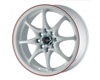 Image of Drag DR-9 15X6.5 4x1004x114.3 38mm White With Red Stripe