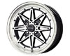 Image of Drag DR-20 15X7 4x100 10mm Gloss Black Machined Face