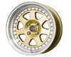 Image of Drag DR-27 15X7 4x100 10mm Gold Machined Lip