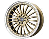Image of Drag DR-36 17X7.5 5x1005x114.3 45mm Gold Machined Lip