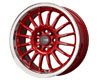 Image of Drag DR-41 15X7 4x100 10mm Red Machined Lip