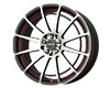 Image of Drag DR-42 17X7.5 4x1004x114.3 42mm Charcoal Grey Machined Face w Red Undercut