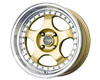 Image of Drag DR-46 15X7 4x100 10mm Gold Machined Lip