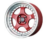 Image of Drag DR-46 15X7 4x100 10mm Red Machined Lip