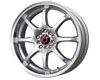 Image of Drag DR-55 17X7 4x1004x114.3 40mm Silver Machined Lip