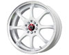 Image of Drag DR-55 18X7 5x1005x114.3 40mm White Machined Lip