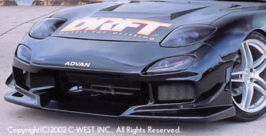 C-West DRFT Front Bumper FRP Mazda RX7 - DFD01B-FBFR