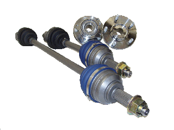 Driveshaft Shop Level 5 Axle and Hub Kit 750HP Mitsubishi Eclipse 2wd Turbo 95-99 - MI45