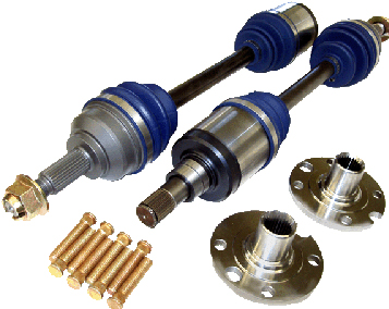 Driveshaft Shop Level 3.9 Axle and Hub Kit 600HP Honda Civic Si EP 01-05