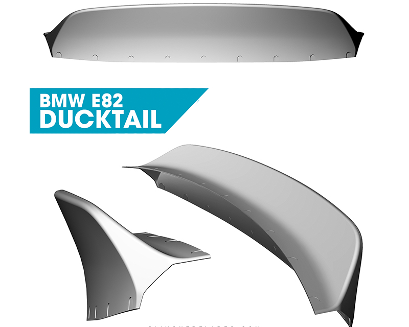 Clinched Flares Ducktail Spoiler BMW 1-Series E82 07-13 - duck-e82