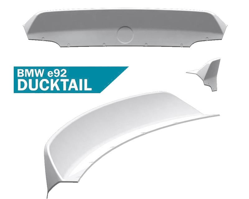 Clinched Flares Ducktail Spoiler BMW 3-Series E92 05-11 - duck-e92