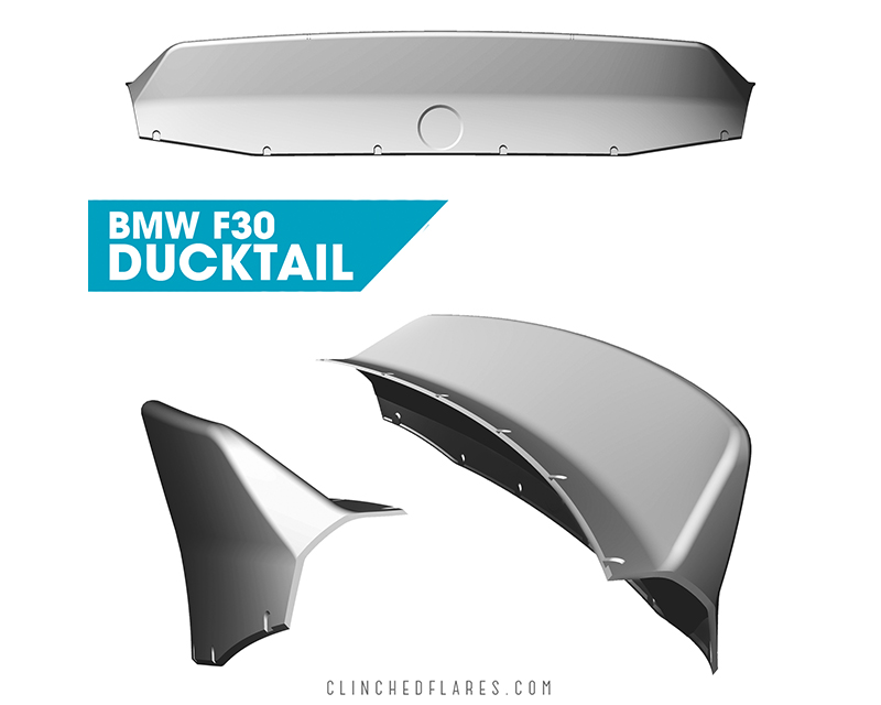 Clinched Flares Sedan Ducktail Spoiler BMW 3-Series F30 | F80 12-19 - duck-f30