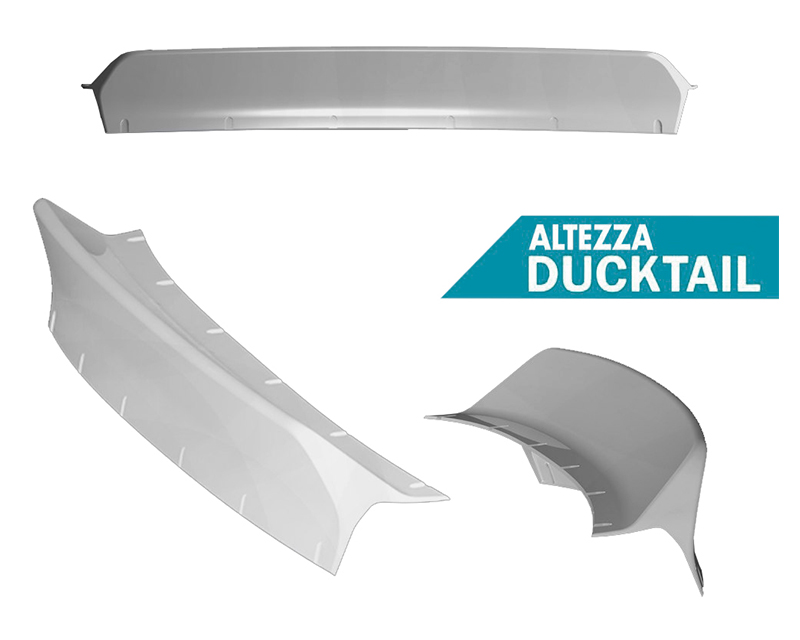 Clinched Flares Ducktail Spoiler Lexus IS300 01-05 - duck-is300