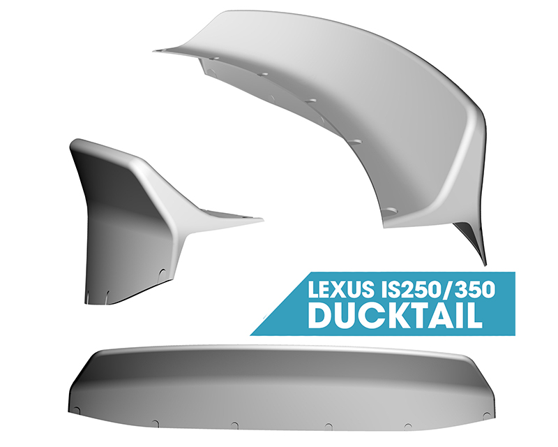 Clinched Flares Widebody Kit with Ducktail Spoiler Lexus IS250 | IS350 06-12 - duck-is350