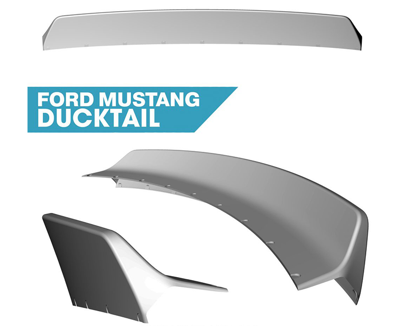 Clinched Flares Ducktail Spoiler Ford Mustang S550 GT | GT350 | EcoBoost | V6 15-20 - duck-s550