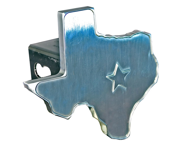Defenderworx Texas 3D Star - 2-Inch Billet Hitch Cover - 14006