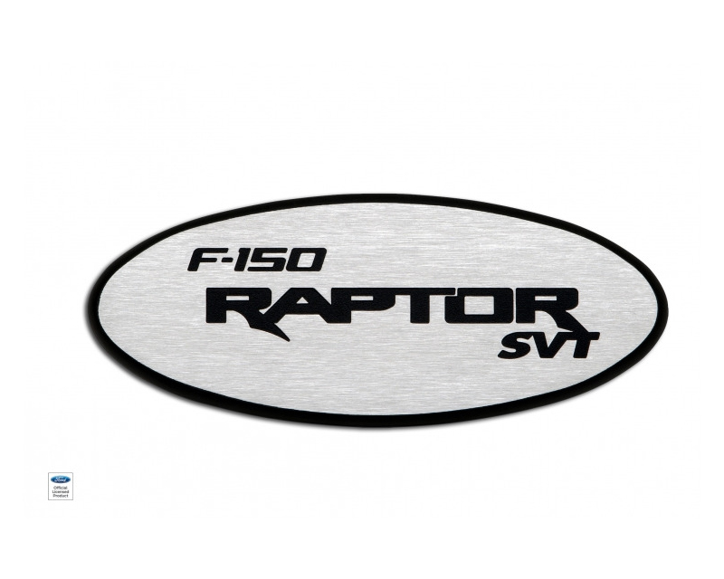 Defenderworx Tailgate Emblem with Backup Camera - Two Tone Brushed Ford Raptor 09-14 - 901107