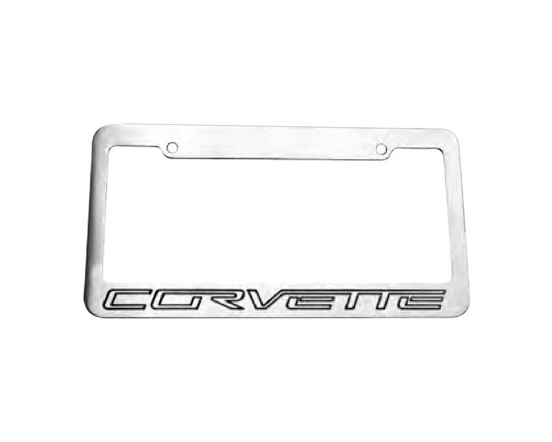 Defenderworx License Plate Standard Frame Two-Tone Brushed Chevrolet ?Corvette C6 05-14 - 901168