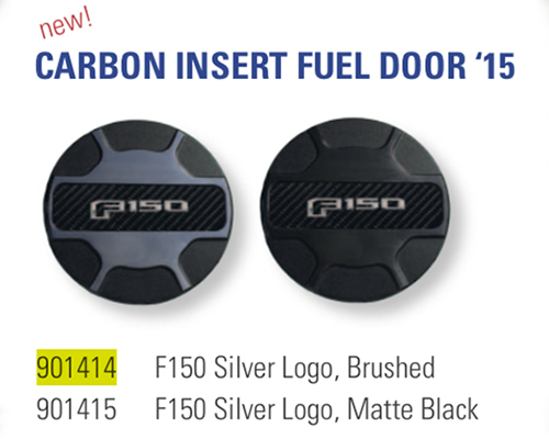 Defenderworx Silver Logo Fuel Door-Brushed Ford F-150 2015 - 901414