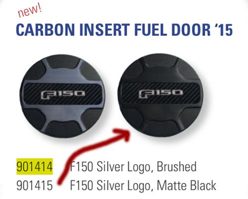 Defenderworx Silver Logo Fuel Door-Black Ford F-150 2015 - 901415