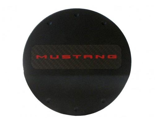 Defenderworx Red Logo Fuel Door - Black Ford Mustang 2015 - 901424