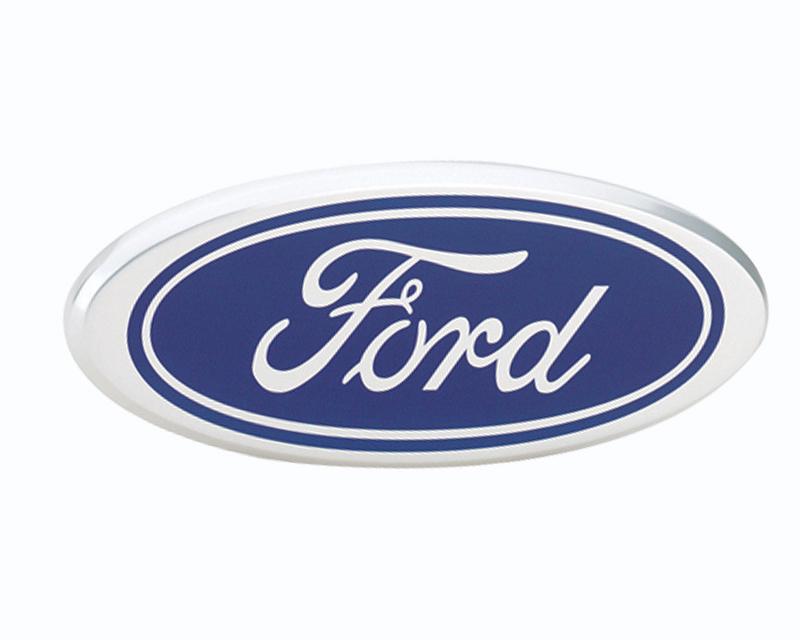 Defenderworx Ford Oval - Blue Billet Grille Emblem 7.25-Inch - 96401