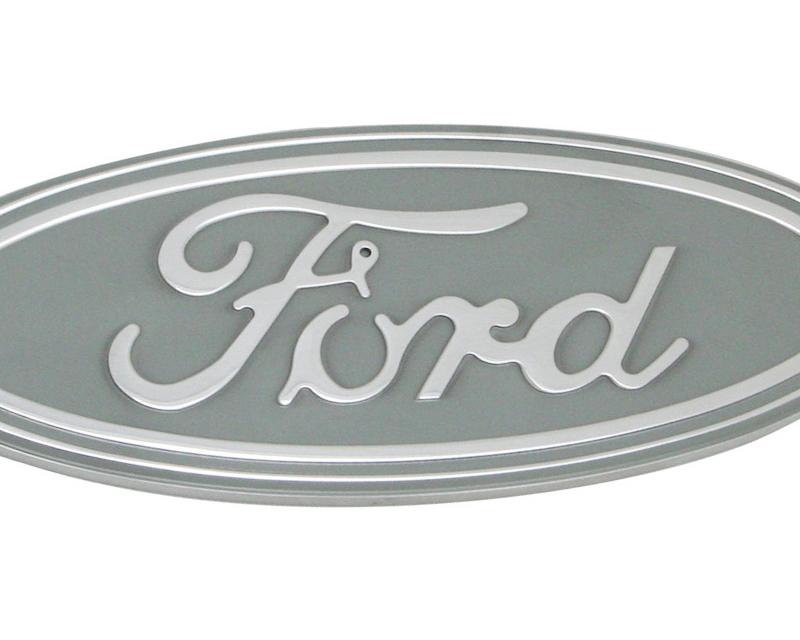 Defenderworx Ford Oval - Silver Billet Grille Emblem 7.25-Inch Ford F-150 98-03 - 96404