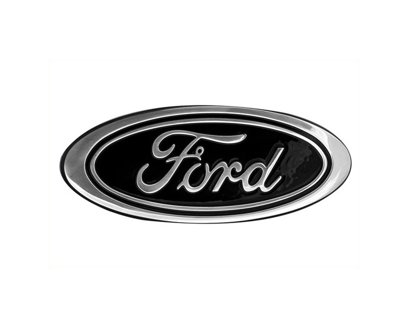 Defenderworx Ford Oval - Black Small 5.75-Inch Billet Tailgate Emblem Ford F-350 97-03 - 98203