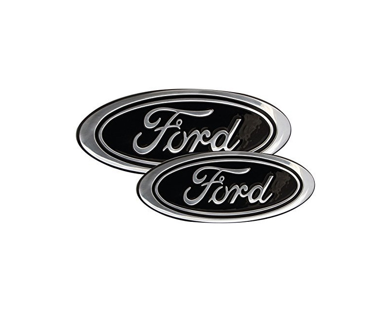 Defenderworx Set of 13-Inch Oval Grille Emblem 7-Inch Tailgate Emblem Black Ford F-350 Super Duty 13-15 - 98428