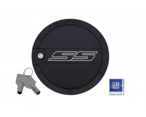 Defenderworx SS Logo Locking Fuel Door Two Tone Chevrolet Camaro 10-14 - CT-1004