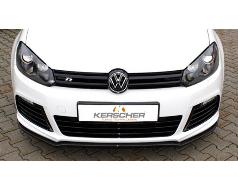 Image of Kerscher Carbon Fiber Splitter for Volkswagen Golf 6 R 09-13