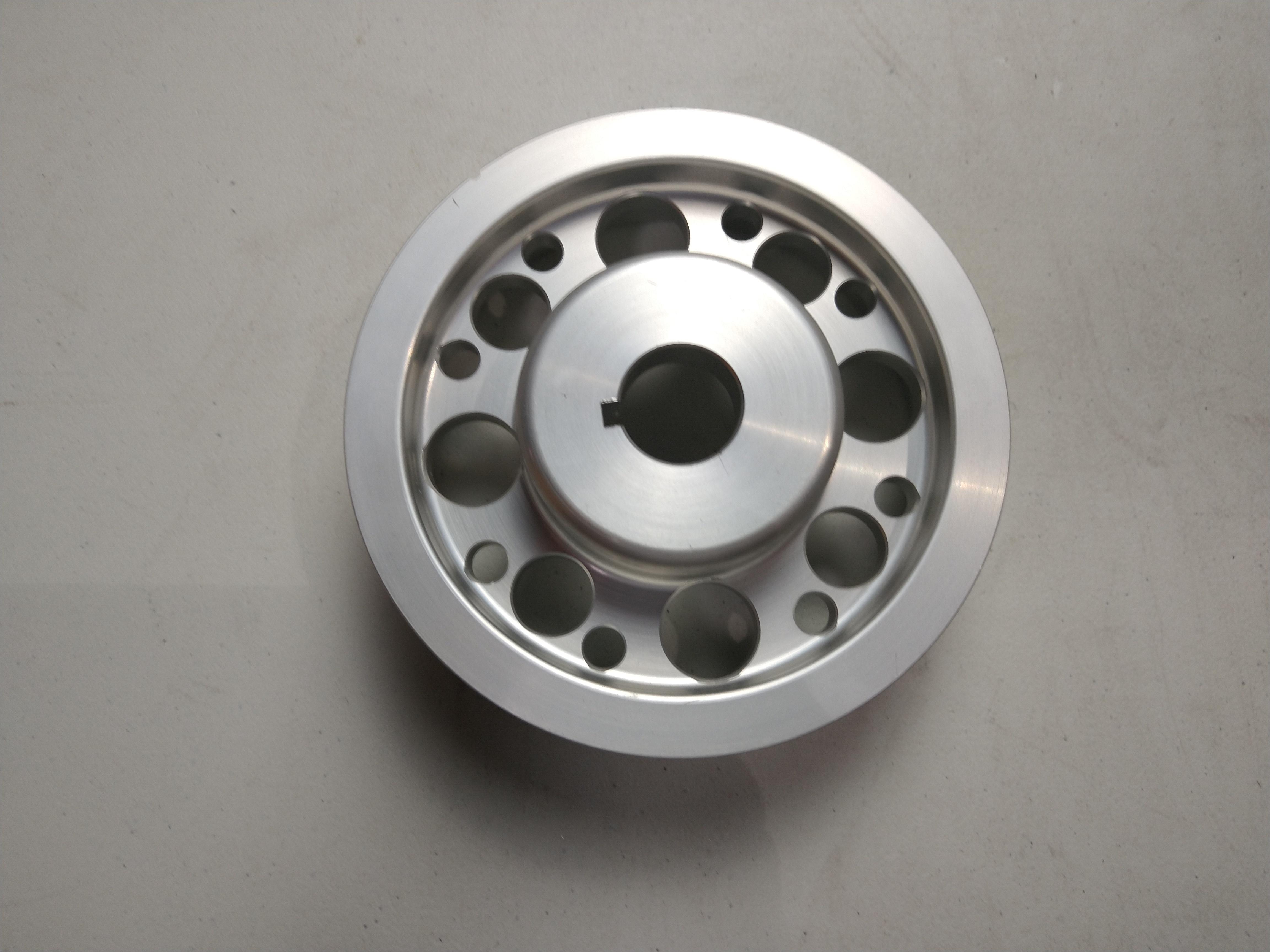 Agency Power Lightweight Silver Crank Pulley Subaru WRX/STI 02-07 CLEARANCE - 392988683488